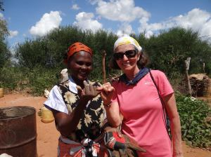 Boni and village woman in Kenya on water project