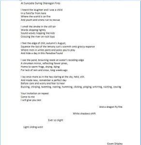 Poem-At Suncadia